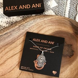 Alex and Ani Hand of Fatima Expandable Necklace